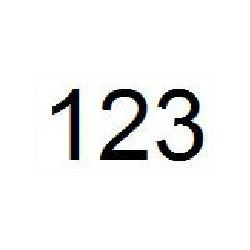 Numéro de course hauteur 15 cm