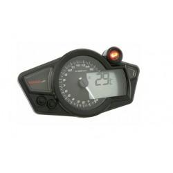 Compte-tour avec shift light et thermomètre KOSO RX1NR