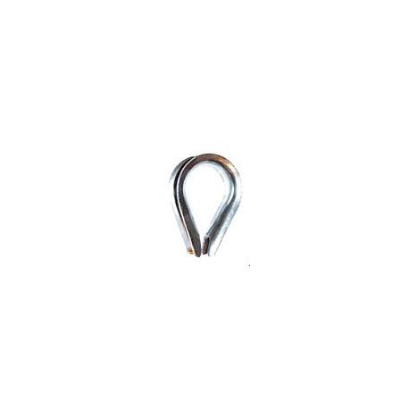 S-Cosse coeur acier zingué pour câble ou gaine Ø 5-6 mm